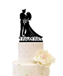 250x300 Wedding Cake Topper Silhouette