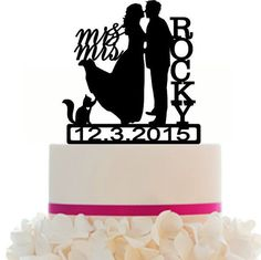 236x235 Wedding Cake Topper Silhouette Groom And By Bridesmaidgifthanger