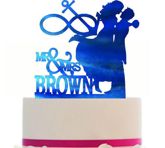 570x510 Custom Glitter Cardstock Wedding Cake Topper , Couple Silhouette