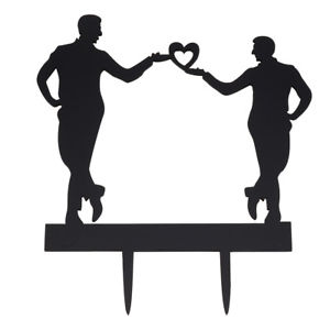 300x300 Bride And Groom Cake Topper Acrylic Silhouette Wedding Cake Topper