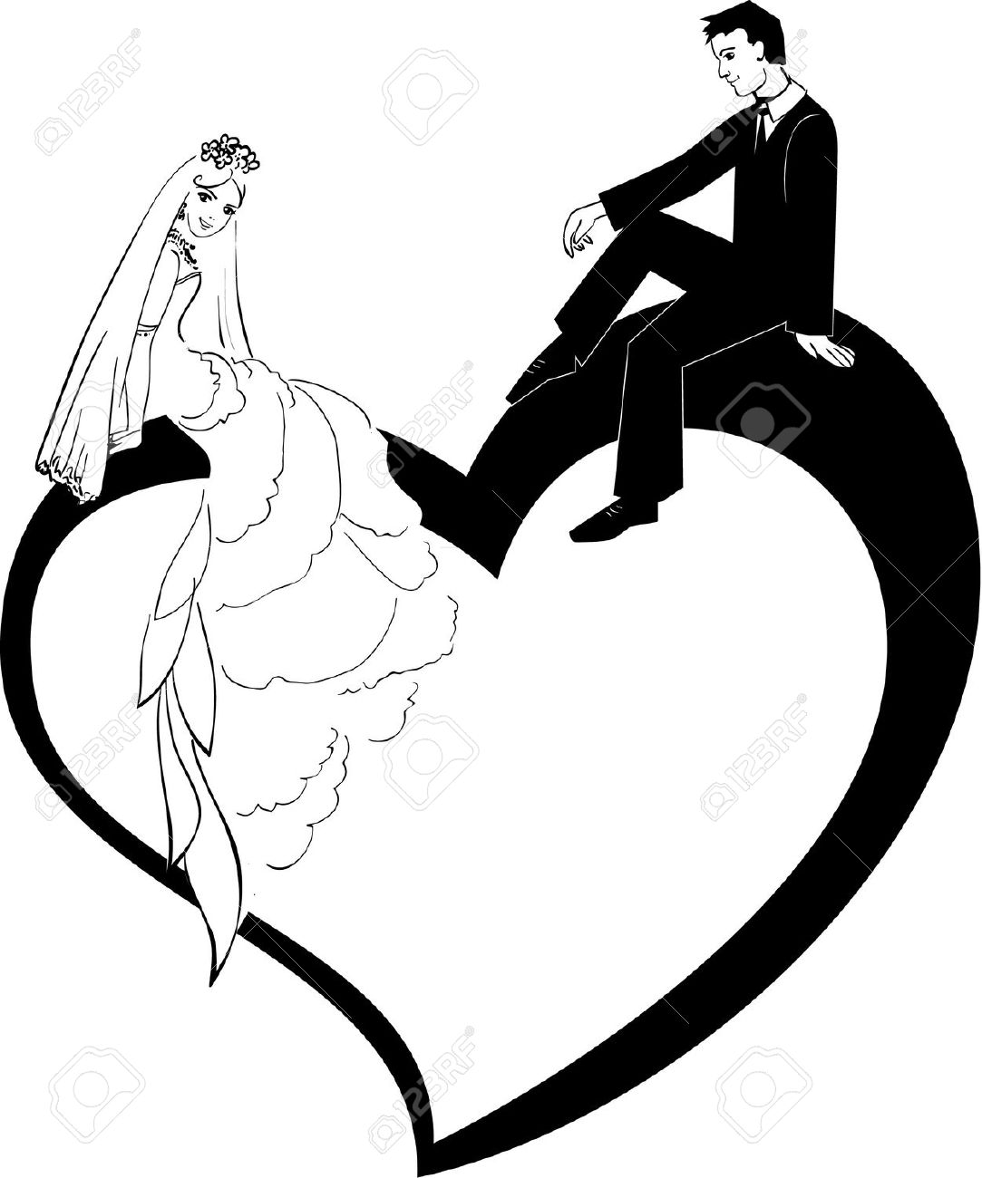 1083x1300 K.o.p.e.l. Clipart Wedding Vector