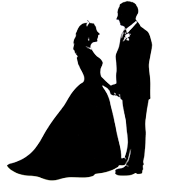 Wedding couple silhouette at getdrawings free for personal use 172x183 alison russell silhouette artist junglespirit Gallery