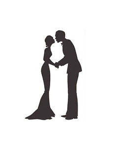 232x300 Wedding Couple Silhouette Handmade Cross Stitch Pattern Ebay