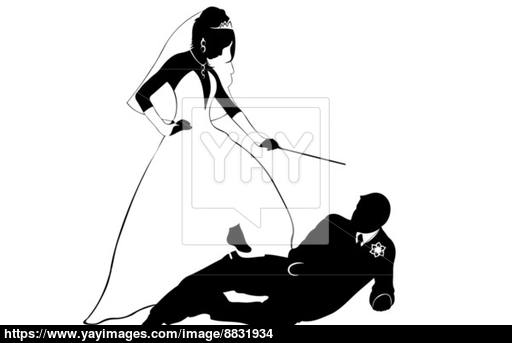 512x343 Wedding Couple Silhouette Vector