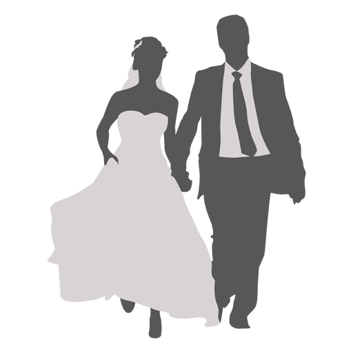 512x512 Wedding Couple Walking Silhouette 2