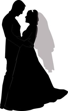 Wedding Couple Silhouette Clip Art