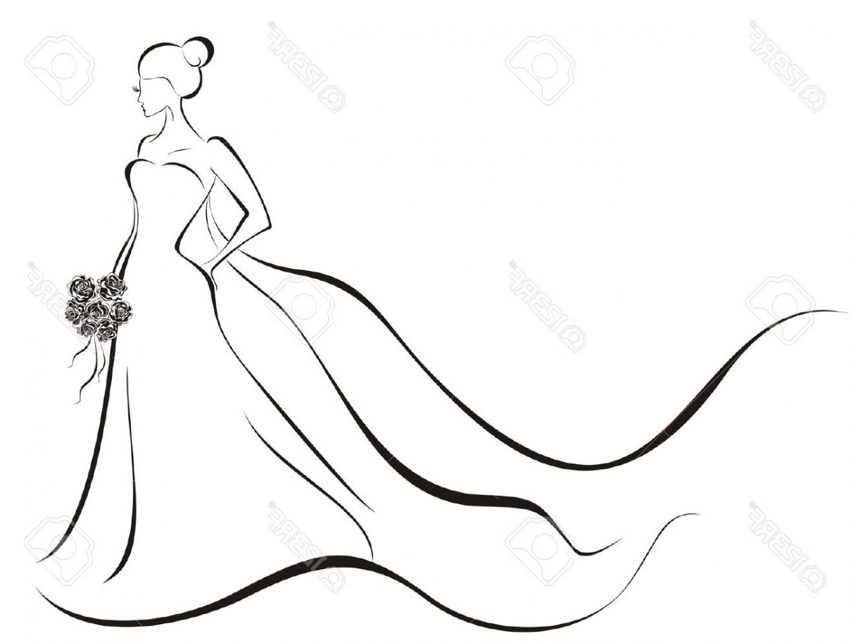 Wedding Dress Silhouette at GetDrawings.com | Free for personal use ...