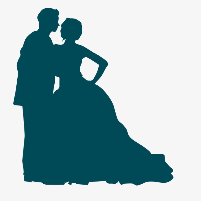 650x650 Valentine's Day Wedding Silhouette Figures, Wedding, Wedding Dress