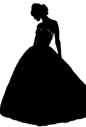 300x440 Wedding Dress Silhouette Clip Art