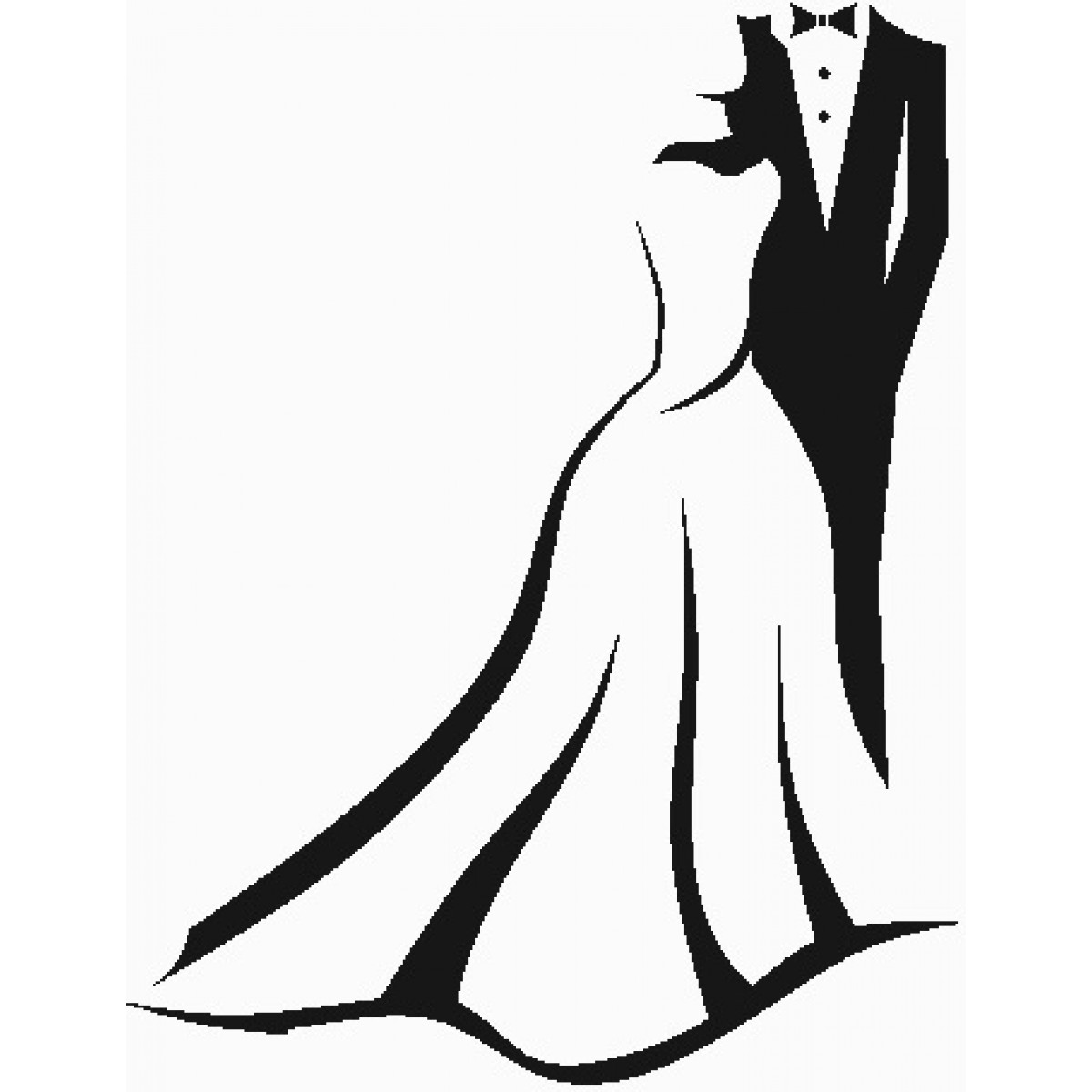 1200x1200 Wedding Dress Silhouette Clip Art