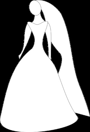 300x440 Wedding Dress Silhouette Png Clipart