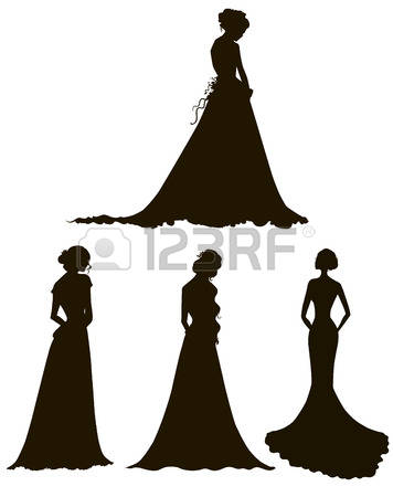 356x450 Wedding Dress Silhouettes Clip Art (67 )