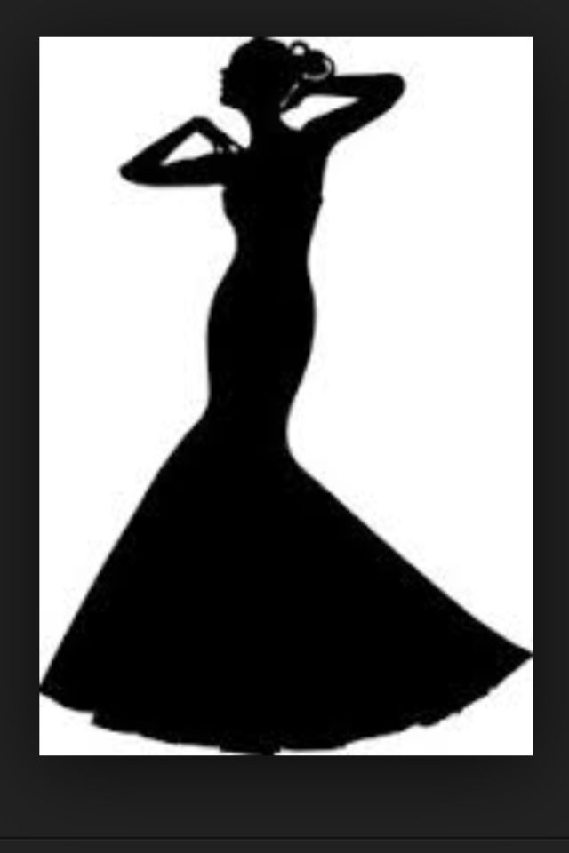 Wedding Dress Silhouette Clip Art