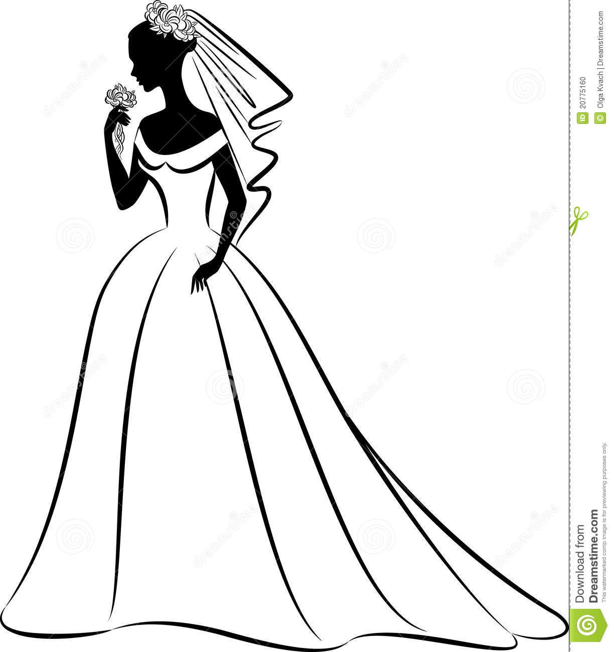 Wedding dress silhouette clip art at getdrawings free for 1224x1300 bridal clip art black and white junglespirit Choice Image