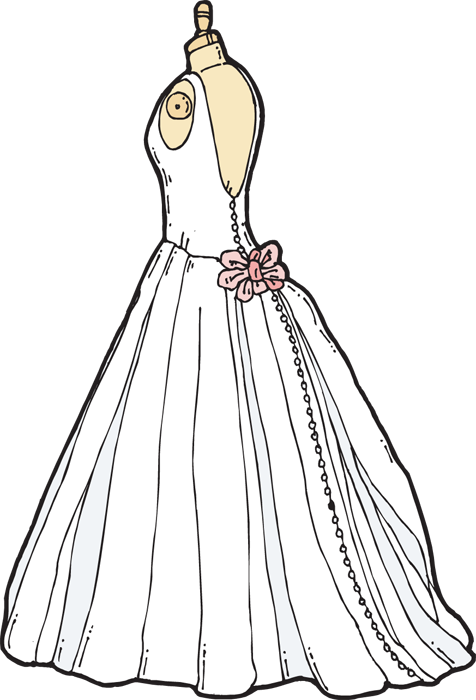 476x700 Gown Clipart Elegant Dress