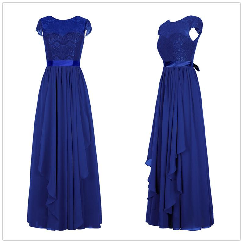 797x797 Modern Royal Blue Long Chiffon Mother Of The Bride Dresses Lace