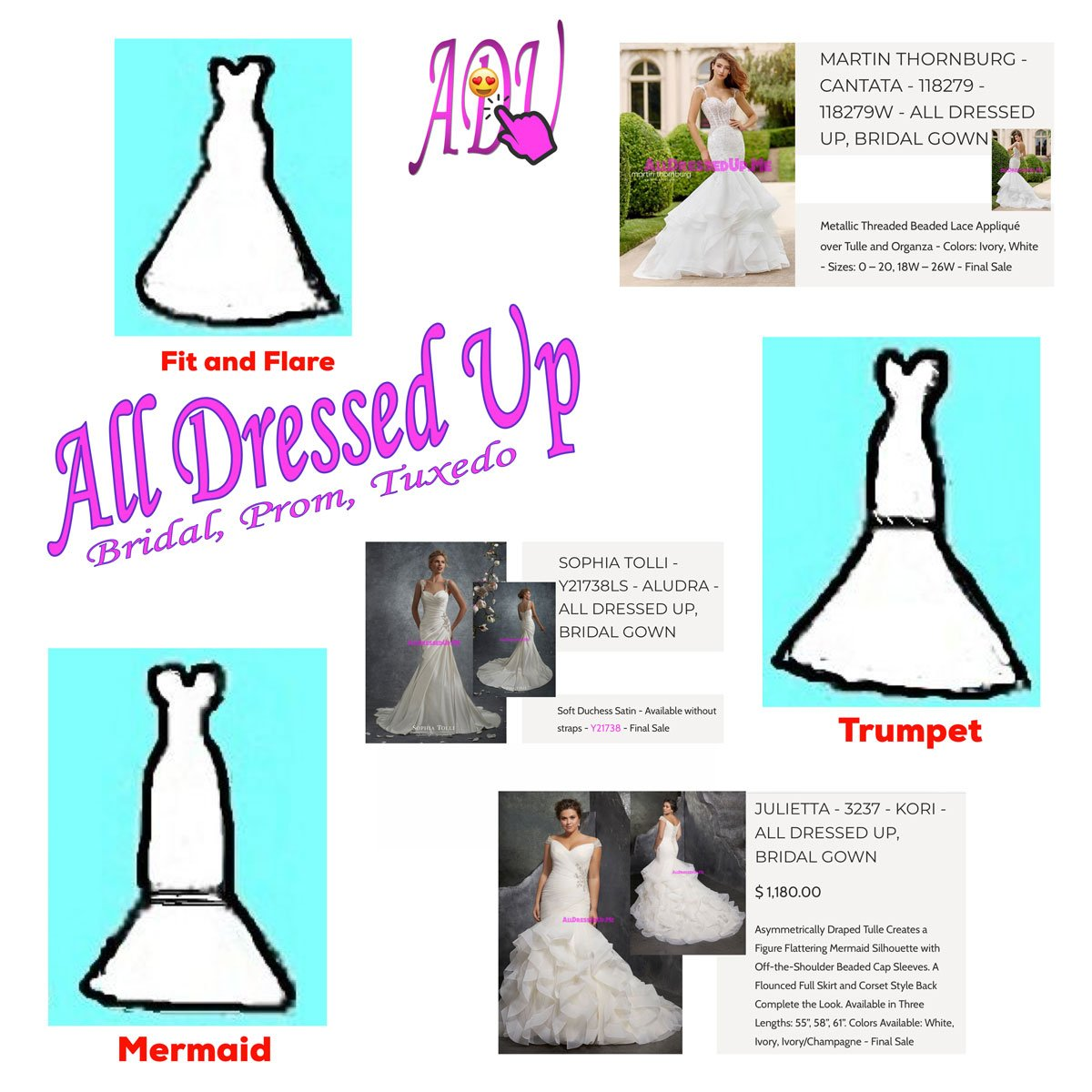 1200x1200 A Guide To Popular Wedding Gown Silhouettes Part 2 Of 2