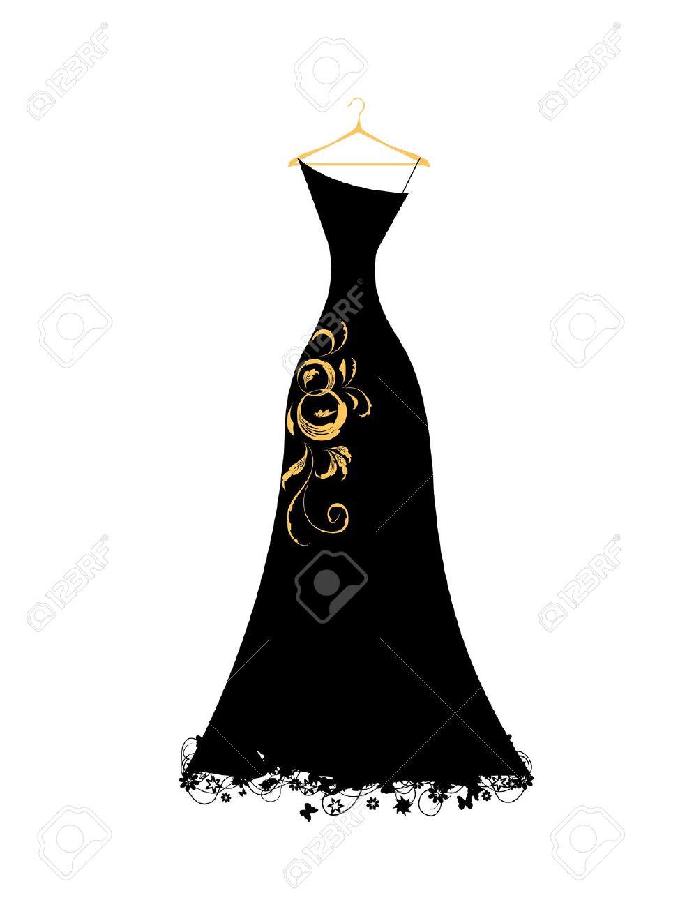 995x1300 Black Dress Clipart Silhouette
