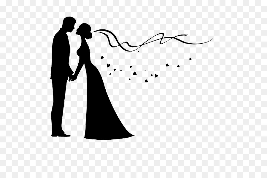 900x600 Bridegroom Wedding Invitation Silhouette