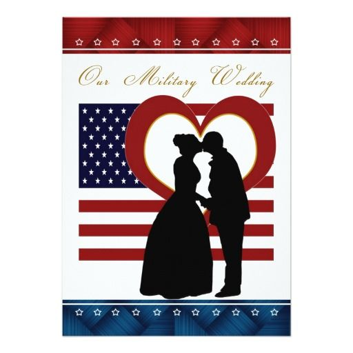 512x512 Military Wedding Invitation Silhouette Flag Heart Military