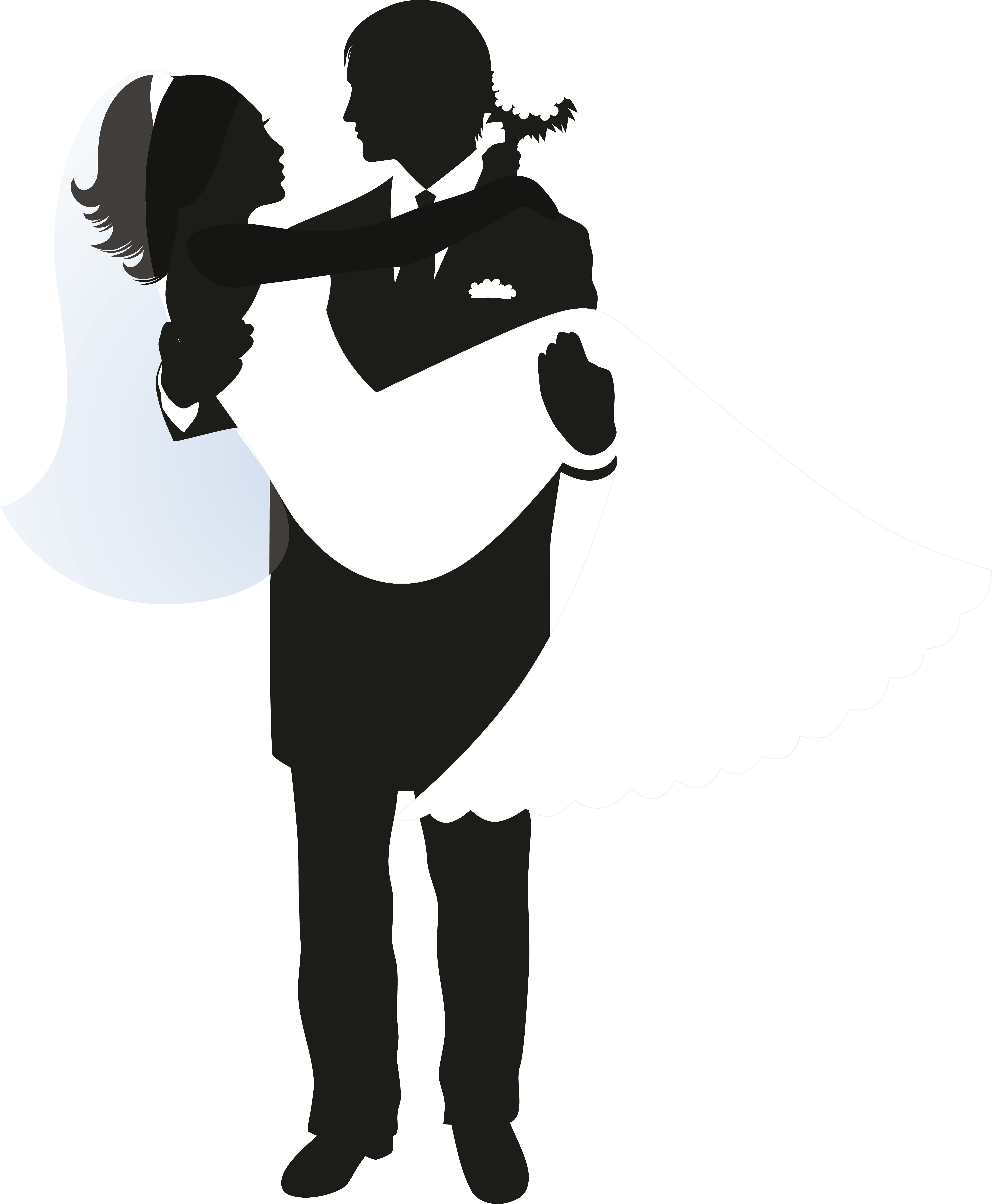5739x6965 Wedding Invitation Silhouette Bridegroom