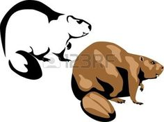 236x176 Beaver 30 Pieces Of Detailed Vectoral Wild Animal Silhouettes