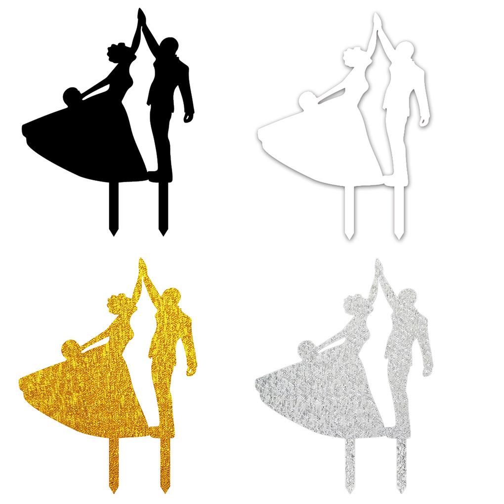 1020x1020 Simple Very Elegant Dancing Bride And Groom High Five Silhouette