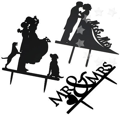 400x400 Wedding Party Cake Topper Decor Coupleampdogs Mrampmrs Brideampgroom