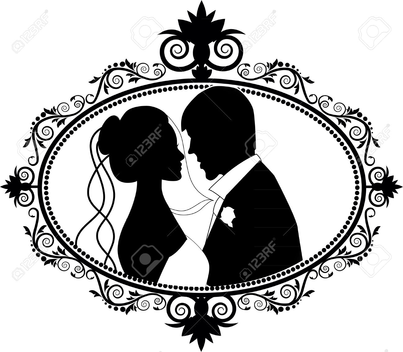 1300x1135 Wedding Silhouette Clip Art