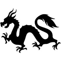 210x209 Chinese Dragon Pattern. Use The Printable Outline For Crafts