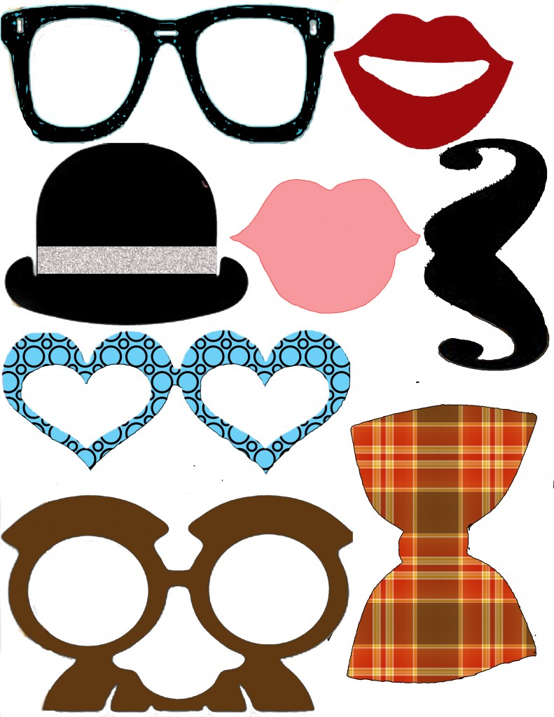 This is an image of Modest Printable Photo Booth Props Templates