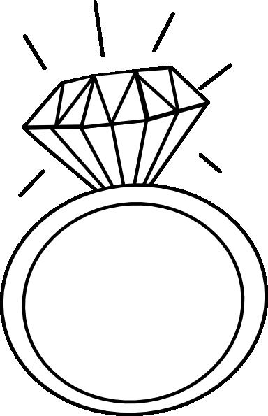 384x595 Engagement Ring Outline Clip Art 2