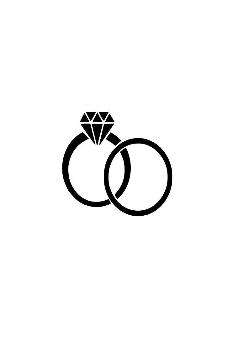 794x1123 Wedding Rings Svg Bride Groom Outline Svg Digital Download