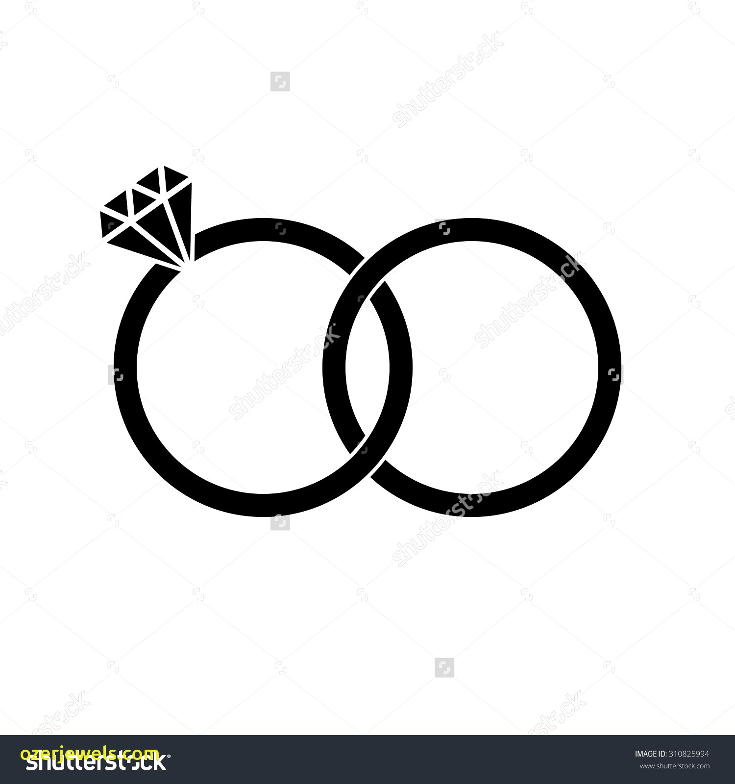 1500x1600 Wedding Ring Silhouette Vector