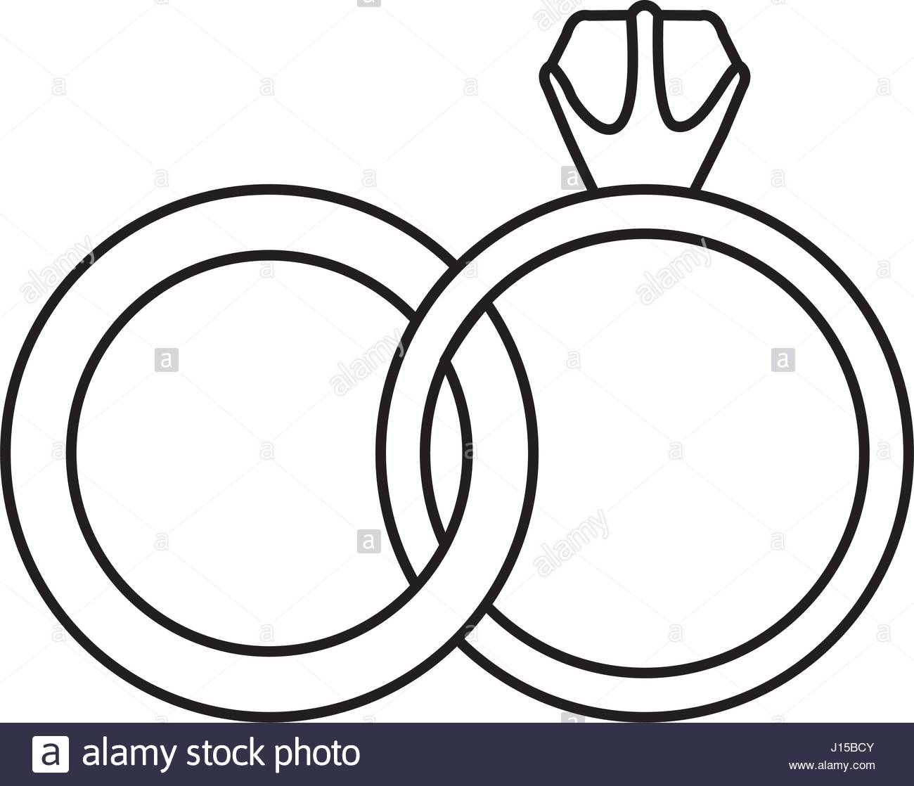 1300x1118 Black Silhouette Of Wedding Rings Stock Vector Art Amp Illustration