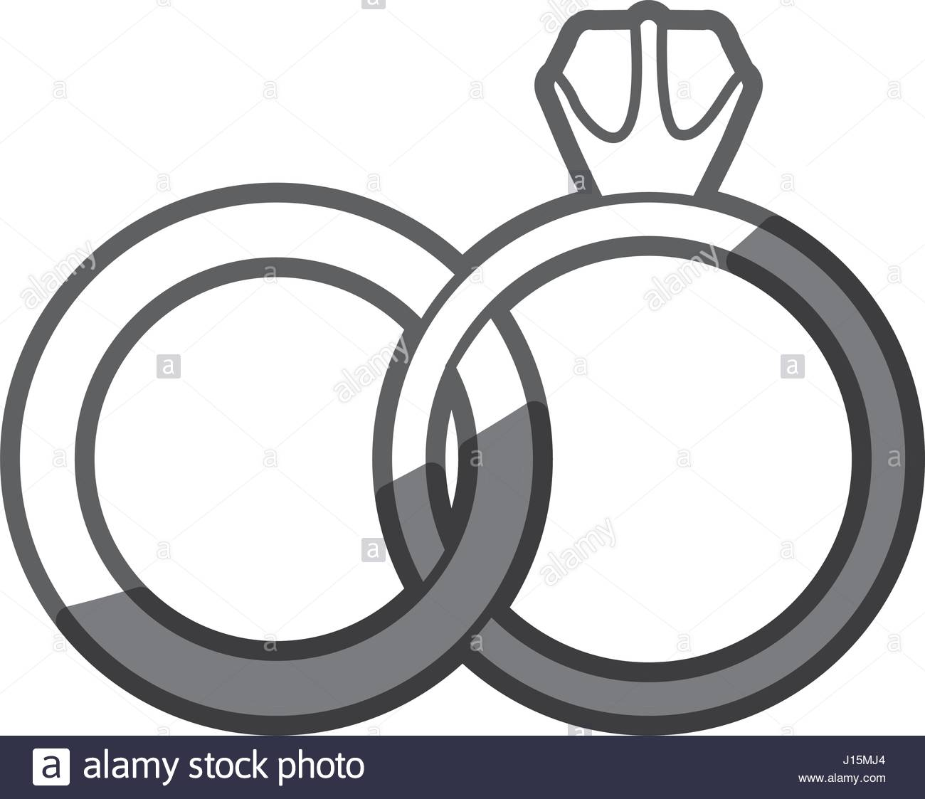 1300x1123 Grayscale Silhouette Of Wedding Rings Stock Vector Art