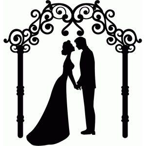 300x300 Wedding Silhouette Clip Art