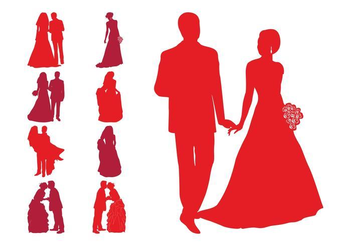 700x490 Wedding Silhouette Free Vector Art