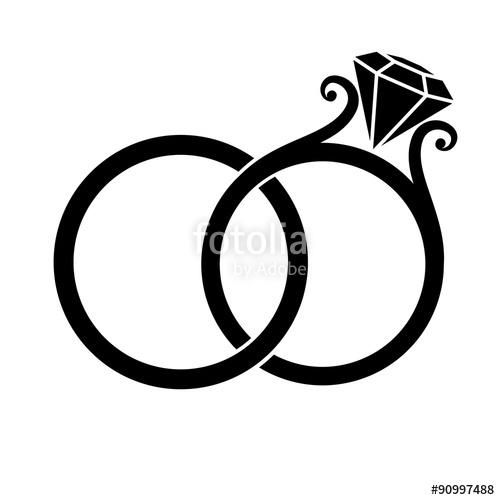 500x500 Wedding Rings Silhouette Stock Image And Royalty Free Vector