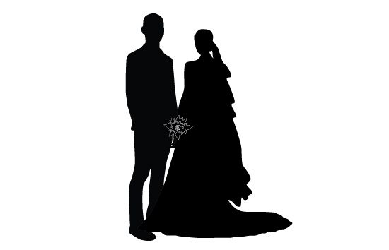 550x354 Wedding Silhouette Vector Wedding Silhouette And Silhouettes