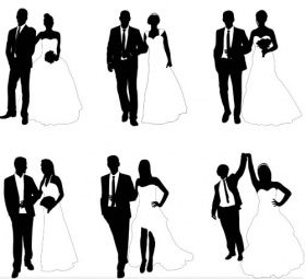 280x255 Wedding Silhouette Search Results Free Vector Graphics