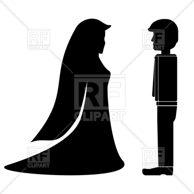 400x400 Black Fiance And Fiancee Wedding Icon Royalty Free Vector Clip Art
