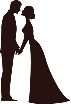 236x343 Silhouette Newlyweds Vector Vector Graphics Amp Vector