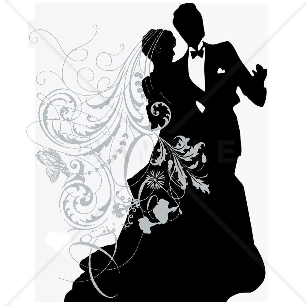 1000x1000 Wedding Couple Silhouette Couple