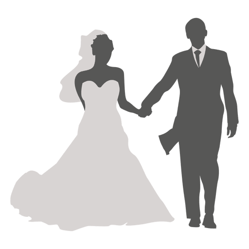 512x512 Wedding Couple Walking Silhouette 4