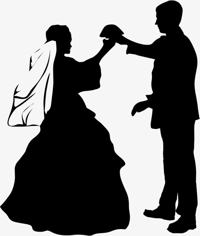 650x768 Wedding Dress, Wedding Silhouette, Figure Png And Vector For Free
