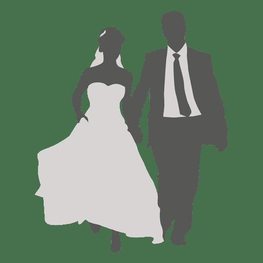 512x512 Wedding Couple Walking Silhouette 2