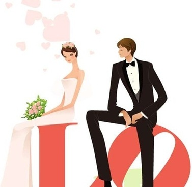 377x368 Wedding Silhouette Free Vector Download (6,827 Free Vector)