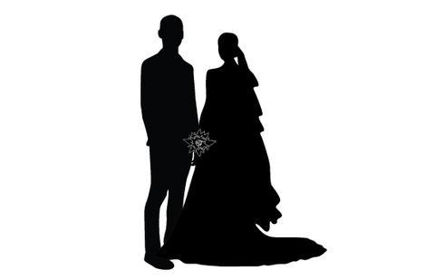480x309 Wedding Silhouette Vector Silhouettes Vector