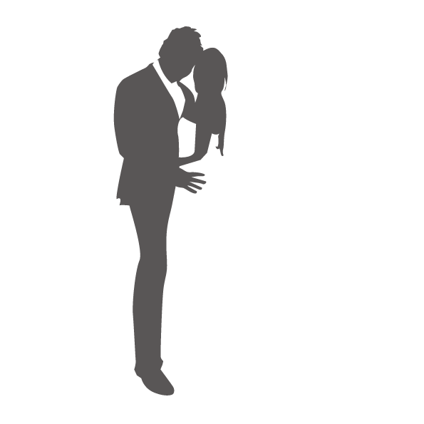 595x595 Marriage Abstraction Wedding Silhouette